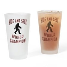 Bigfoot Hide and Seek Drinking Glass