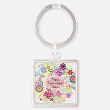 Cute Homeschool Square Keychain