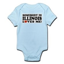 Somebody In Illinois Loves Me Infant Bodysuit