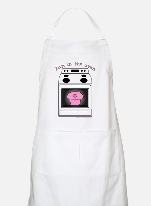 """""""Bun in the oven"""" Pink BBQ Apron"""