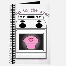 """Bun in the oven"" Pink Journal"
