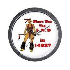 The INS In 1492 Wall Clock