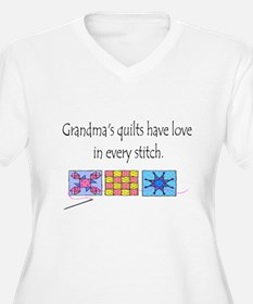 Grandma's quilts Plus Size T-Shirt