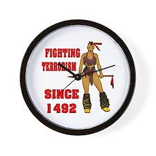 Fighting Terrorism Since 1492 Wall Clock