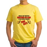 Brother in law Mens Yellow T-shirts