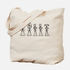 Super Family 2 Boys 1 Girl Tote Bag