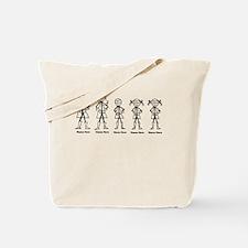 Super Family 1 Boy 2 Girls Tote Bag
