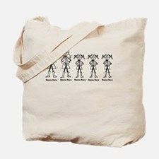 Super Family 3 Girls Tote Bag