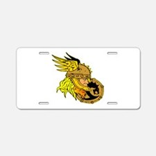 Viking Warrior & Shield Aluminum License Plate