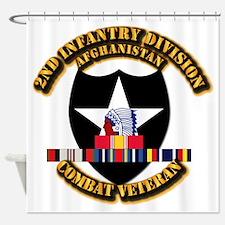 Army - 2nd ID w Afghan Svc Shower Curtain