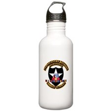 Army - 2nd ID w Afghan Svc Sports Water Bottle