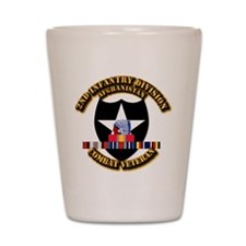 Army - 2nd ID w Afghan Svc Shot Glass