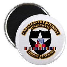 """Army - 2nd ID w Afghan Svc 2.25"""" Magnet (100 pack)"""