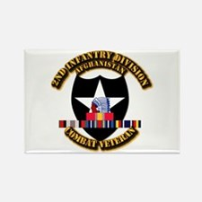 Army - 2nd ID w Afghan Svc Rectangle Magnet (10 pa