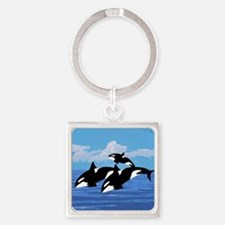 Orcas Square Keychain