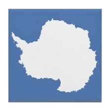 Antarctic flag Tile Coaster