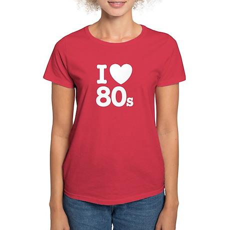 I Love 80's Women's Dark T-Shirt