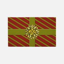 Wrapped Christmas Gift 3'X5' Holiday Area Rug