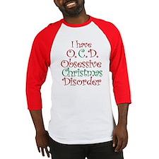 OCD - Obsessive Christmas Disorder Baseball Jersey