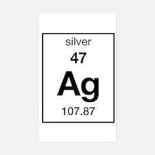 Periodic Table Silver Car Accessories | Auto Stickers ...