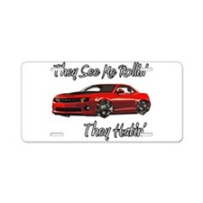 Rollin Aluminum License Plate