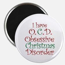 OCD - Obsessive Christmas Disorder Magnets