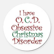 OCD - Obsessive Christmas Disorder Round Car Magne