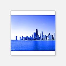 Royal Bluish Chicago Skyline Sticker