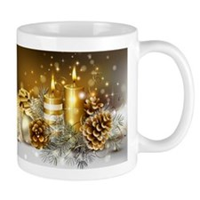 Gold Christmas Mugs