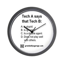 Tech A and Tech B: Wall Clock