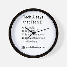 Tech A and Tech B: Wall Clock