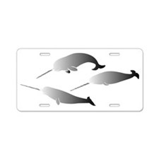whale whales narwal narwhal Aluminum License Plate