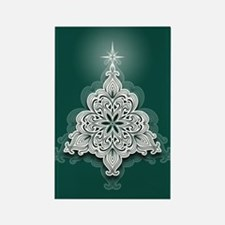 Lacy Christmas Tree Magnets