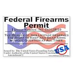 Federal Firearms Permit Sticker