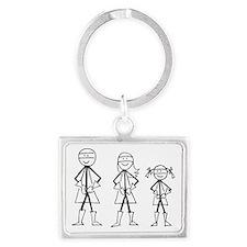 Super Family 1 Girl Landscape Keychain