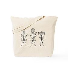 Super Family 1 Girl Tote Bag