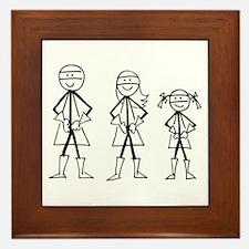 Super Family 1 Girl Framed Tile