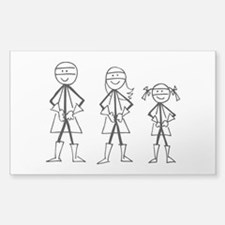 Super Family 1 Girl Decal
