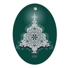 Lacy Christmas Tree Ornament (Oval)