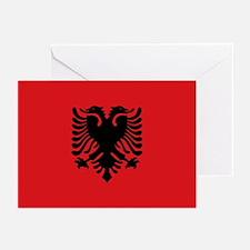 Albanian flag Greeting Cards (Pk of 10)