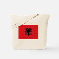 Albanian flag Tote Bag
