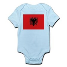 Albanian flag Infant Bodysuit