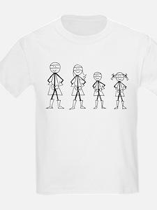 Super Family 1 Boy 1 Girl T-Shirt