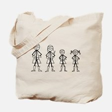 Super Family 1 Boy 1 Girl Tote Bag