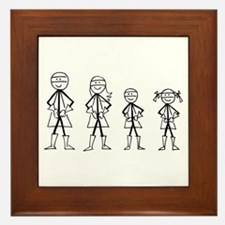 Super Family 1 Boy 1 Girl Framed Tile