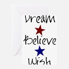 Dream Believe Wish Greeting Cards