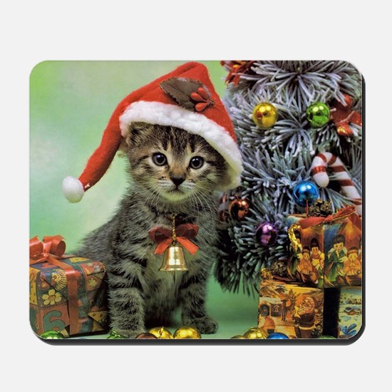 Precious Christmas Cat Mousepad