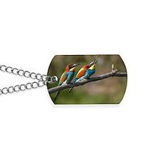 Pair European Bee-eaters Dog Tags