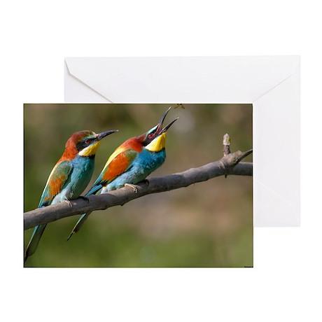 Pair European Bee-eaters Greeting Card
