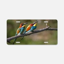 Pair European Bee-eaters Aluminum License Plate